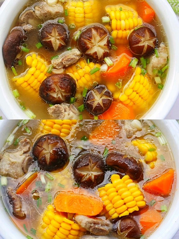 连喝三碗都不够🔥香菇玉米胡萝卜排骨汤😋 营养健康又鲜美‼图1