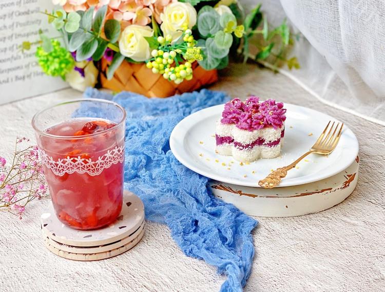 ㊙️高颜值✅低脂🔥紫薯雪蒸糕💯不用过筛图4