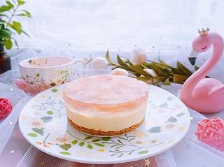 小王子记事簿的桃子轻芝士蛋糕🍑