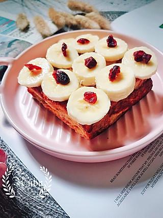 蓝胖纸叮当的元气快手早餐|蔓越莓花生酱流心西多士