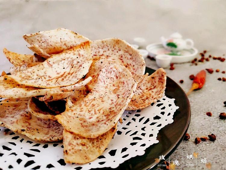 简单快手的小零食~脆脆的香烤芋片图2