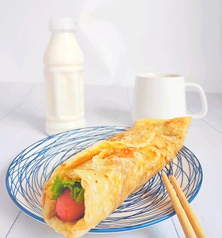 月亮私家烘焙师的秒杀所有地摊货-早餐简易版的鸡蛋灌饼(手抓饼版)