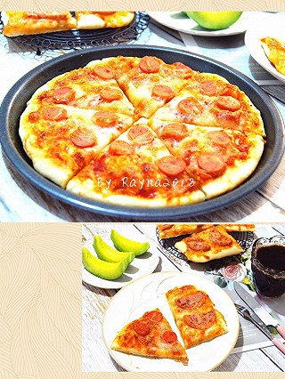 Rayna2018的暖胃又暖心的快手早餐香肠披萨🍕