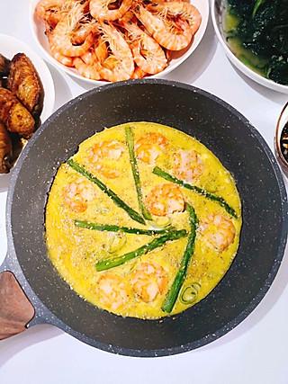 北纬yhz的今日晚餐:基围虾+花螺+芦笋虾仁+香煎鸡翅