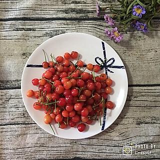 lindayhf的春日下午茶:小樱桃🍒+香水菠萝🍍+福建正岩大红袍🍵