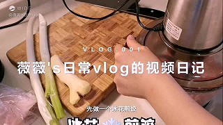 薇薇3025的我的第一个vlog,冰花❄️煎饺