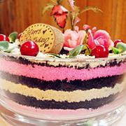 盆栽蛋糕,春天里开出的第一朵花