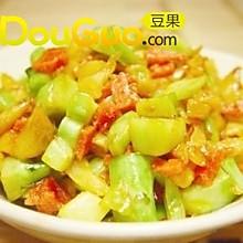 酸萝卜菜头炒肉末