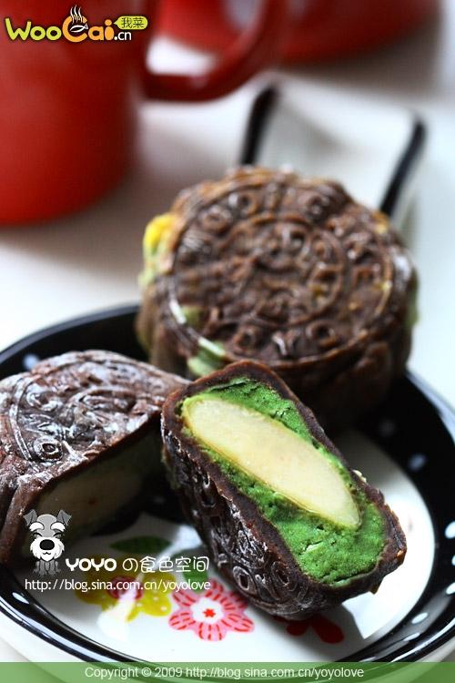 咖啡绿茶白巧克力冰皮月饼——中秋月饼的做法
