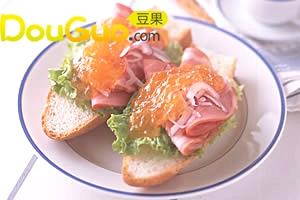香橙果酱火腿三明治沙拉的做法