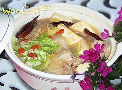 美味的一品豆腐煲的做法