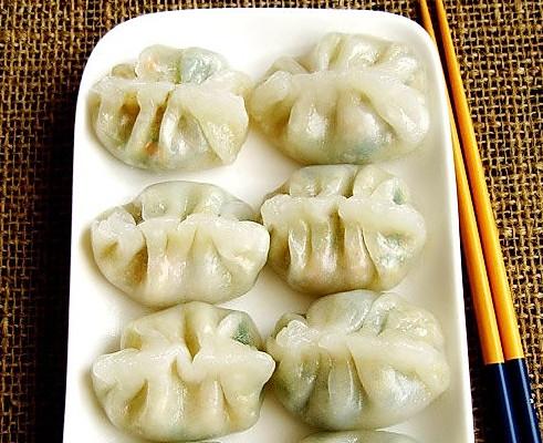 水晶素菜饺的做法