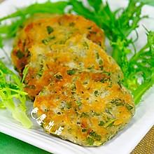 虾皮苦苣饼——补钙清火的早餐饼