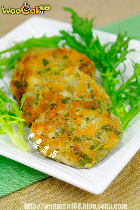 虾皮苦苣饼——补钙清火的早餐饼的做法
