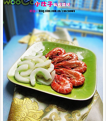 青瓜烩虾的做法