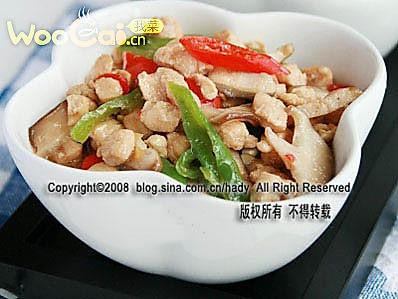 炎夏开胃肉食:剁椒香菇鸡的做法