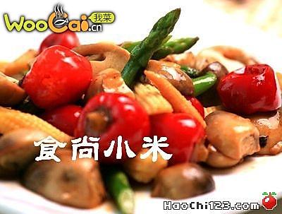 双笋辣炒草菇的做法