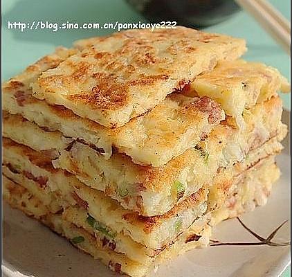 美丽厨娘- 萝卜培根饼的做法