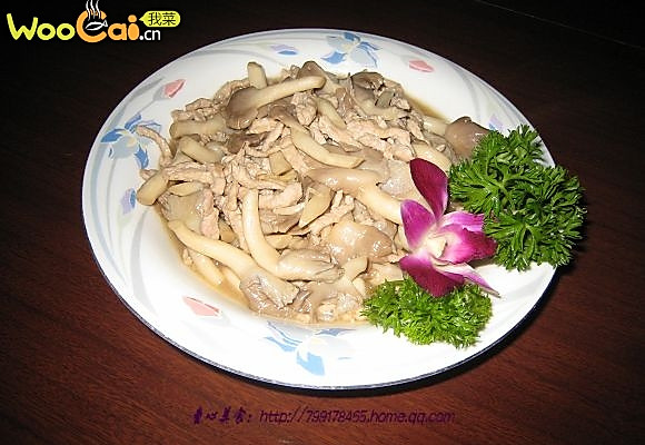 肉丝鸡腿菇-美丽厨娘的做法