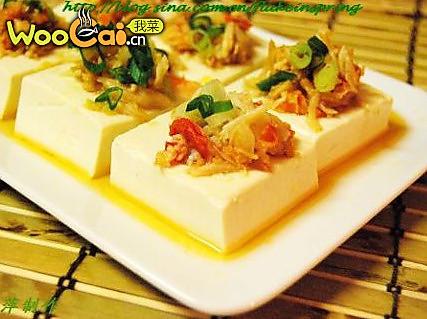 蟹粉蒸豆腐的做法