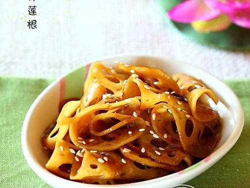 美食菜谱:酱汁莲根的做法