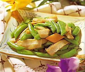 蜜豆鱼片的做法