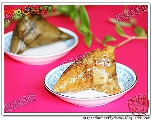 香菇鸡腿蛋黄粽子-过年粽子的做法