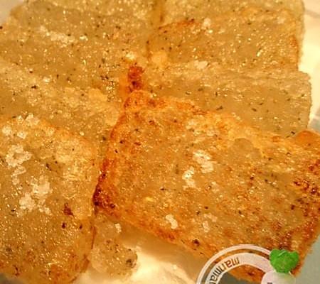 青汁西米黄金煎的做法