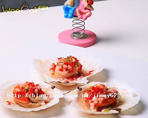 蒜香蟹柳日月贝的做法