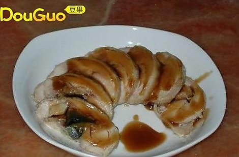 蚝油松花鸡肉卷的做法