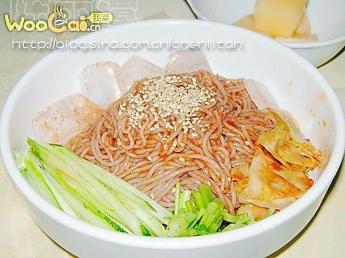 韩式拌荞麦冷面的做法的做法