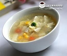 豆腐蛋花汤 完美瘦身汤的做法