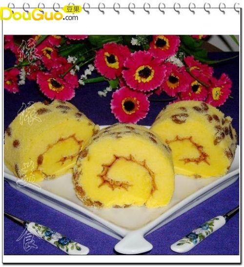 橙味提子蛋糕卷--户外美食的做法