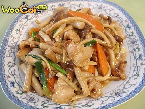 五香肉茶树菇的做法