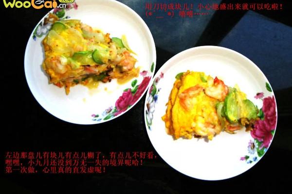 黄瓜虾仁煎蛋的做法