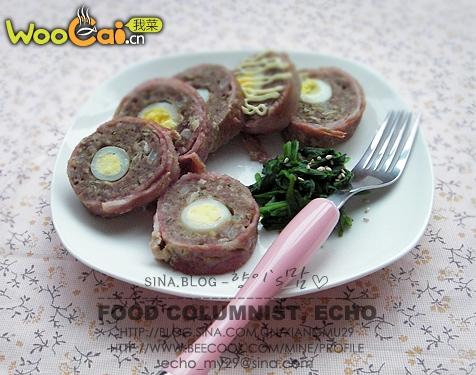 培根牛肉卷的做法