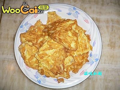 白饭鱼煎鸡蛋的做法