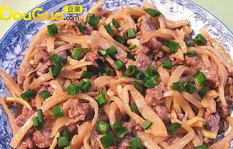 荷塘冲菜蒸牛肉 的做法