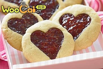 红心爱之饼的做法