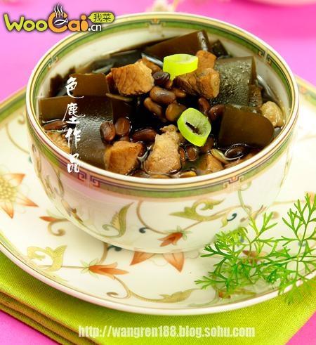 海带黑豆肉丁汤的原料的做法