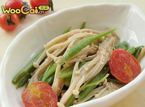 蚝油豆角金针菇小炒的做法