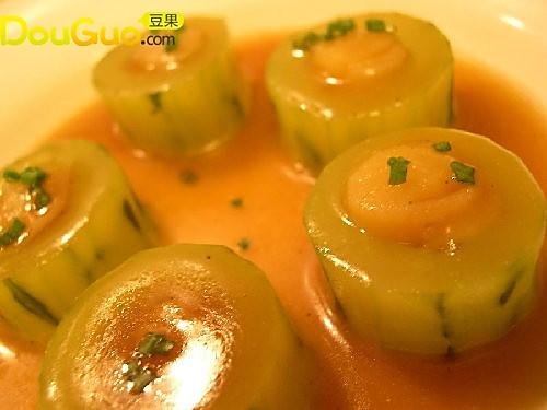 鲜贝酿黄瓜的做法