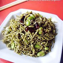 """传说中能""""起死回生""""的菜------菱藤炒毛豆"""