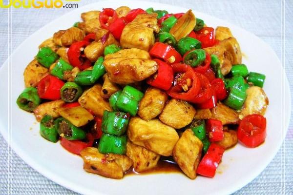 双椒辣子鸡的做法