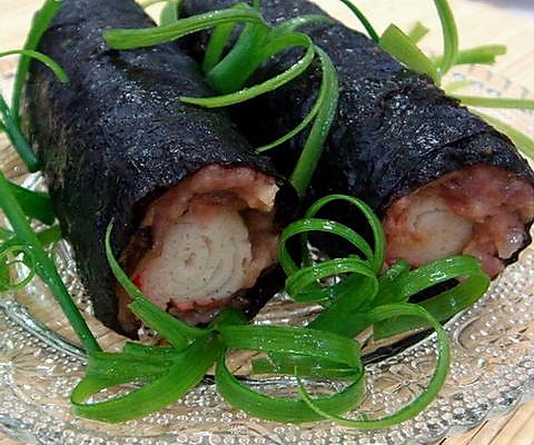 紫菜蟹柳卷的做法