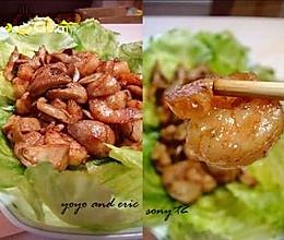 浓情虾炒菇的做法