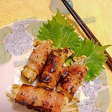 烟肉金菇卷