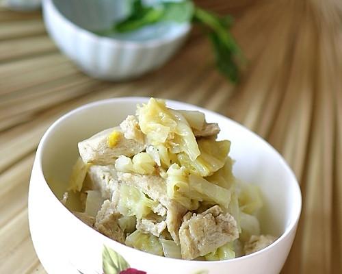 白菜冻豆的做法