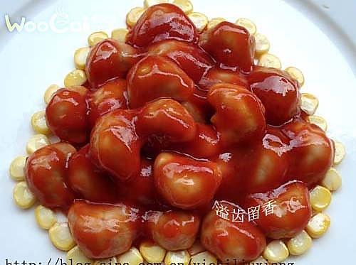 茄汁菱角的做法