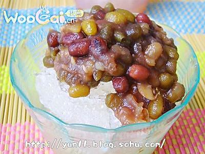 清凉甜蜜的绿豆冰沙的做法